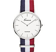 Men's Fashion Watch Wrist watch Casual Watch Chinese Quartz / Nylon Band Vintage Casual Luxury Elegant Black Brown