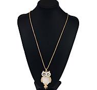 Недорогие -Жен. Геометрической формы форма Животный дизайн Хип-хоп Ожерелья с подвесками Ожерелья-цепочки Заявление ожерелья Хрусталь Металлический