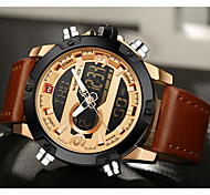 cheap -NAVIFORCE Men's Sport Watch Calendar / date / day / Chronograph / Water Resistant / Water Proof Leather Band Luxury / Casual / Fashion