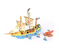 cheap -3D Puzzles Jigsaw Puzzle Model Building Kits Ship 3D DIY High Quality Paper Classic Pirate 6 Years Old and Above