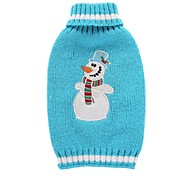 Cat Dog Coat Sweater Dog Clothes Party Casual/Daily Cosplay Keep Warm Wedding Christmas New Year's Cartoon Blue