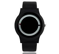 cheap -Men's Women's Quartz Wrist Watch Hot Sale PU Band Casual Fashion Black White