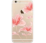 Недорогие -Чехол для iphone 7 7 плюс цветочный узор tpu мягкая задняя крышка для iphone 6 плюс 6 с плюс iphone 5 se 5s 5c 4s