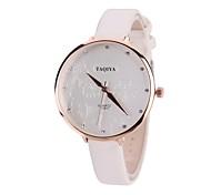 cheap -Women's Dress Watch Fashion Watch Wrist watch Simulated Diamond Watch Chinese Quartz Imitation Diamond Large Dial PU Band Vintage Casual