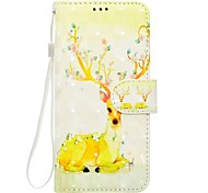 Case For Sony Xperia XZ XA1 Animal Pattern 3D PU Wallet Leather Card Holder with Hand Strap for Sony Xperia XA Ultra E5 XA