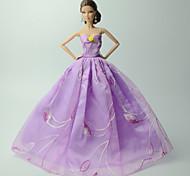 Недорогие -Платья Платье Для Кукла Барби Платья Для Девичий игрушки куклы