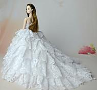 Недорогие -Свадьба Платья Для Кукла Барби Шифон Кружево Платье Для Девичий игрушки куклы