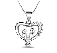Women's Pendant Necklaces Imitation Diamond Heart Alloy Fashion Classic Jewelry For Party Gift Daily Evening Party Stage