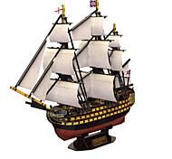 Недорогие -3D пазлы Пазлы Военные корабли Корабль 3D Натуральное дерево 6 лет и выше