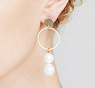 cheap -Women's Mismatch Imitation Pearl - Personalized / Geometric / Sexy Gold / Silver Circle Earrings For Christmas Gifts / Anniversary /