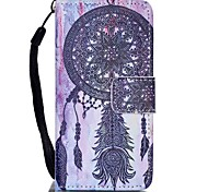 cheap -Case For Apple ipod touch 5 touch 6 Case Cover Card Holder Wallet with Stand Flip Pattern Full Body Case Dream Catcher Hard PU Leather
