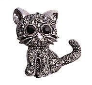 cheap -Women's Brooches Animal Design Alloy Cat Animal Black Jewelry For Wedding Casual Evening Party Office & Career New Year