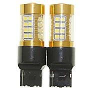 Недорогие -Sencart 2pcs 7440 w21w w3x16d мигающая лампочка светодиодный фонарик автомобиля поворота заднего фонаря (белый / красный / синий / теплый