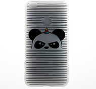 Case For Huawei P8 Lite (2017) P10 Case Cover Striped Panda Pattern 3D Relief Milk TPU Material Phone Case For Huawei P10 Lite P10 Plus