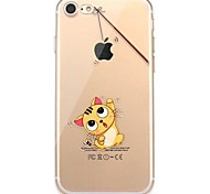 Case For IPhone 7 6 Cat Playing with Apple logo TPU Soft Ultra-thin Back Cover Case Cover iPhone 7 PLUS 6 6s Plus SE 5s 5 5C 4S 4
