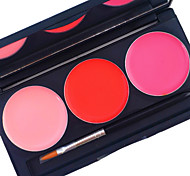 pro 3 цветной комплект для глянца для губ матовый водонепроницаемый покрытие длится 24 часа не стирать жидкую помаду косметическая палитра