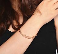Недорогие -Жен. Браслет разомкнутое кольцо - На заказ Открытые Мода Круглый Золотой Серебряный Браслеты Назначение Рождество Для вечеринок День