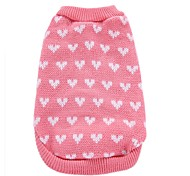 cheap -Dog Coat Sweater Christmas Dog Clothes Heart Pink Acrylic Fibers Costume For Pets Men's Women's Party Casual/Daily Birthday Cosplay