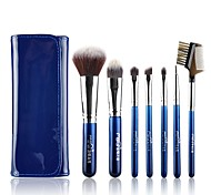 1set Makeup Brush Set Synthetic Hair Easy Carrying Multi-tool Easy to Carry Aluminum Wood Men Face Men and Women Eye Daily Lip