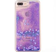 Caso para iphone 7 mais 7 capa capa padrão de floco de neve fluir líquido glitter pc materia telefone caixa 6s mais 6plus 6s 6 se 5s 5