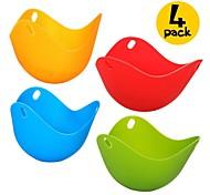 cheap -4 Pcs Eggcellent Poacher Colorful Non-stick Silicone Egg Cookware Pod Cup