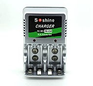 economico -Soshine aa / aaa / 9v plug-in europeo ni-mh / ni-cd
