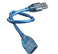 Недорогие -USB мужчина автобус / кристалл USB удлинитель кабеля 30 см