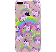 Para la caja del teléfono del iphone 7 7plus de la manzana caso material del tpu del unicornio pintado caja 6s del teléfono más 6plus 6s 6