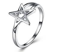 Жен. Классические кольца Любовь Простой стиль Классика Мода Pоскошные ювелирные изделия Стерлинговое серебро В форме звезды Бижутерия