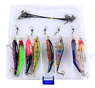 Anmuka 23Pcs/Set Bright Colorful 8.8cm 7.4g Hard Bait Minnow Fishing Lures 3D Fish Eyes Hooks Diving Perch Wobbler Fishing Tackle