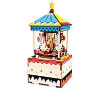 Набор для творчества музыкальная шкатулка Игрушки Лошадь Карусель Дерево Куски Для детей Универсальные День рождения День Святого