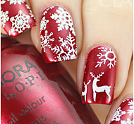 4pcs/Set Fashion Christmas Nail Art 3D Sticker Colorful Charming Xmas Snowflake Pattern Nail Stickers Beautiful Snowflake Nail DIY Decoration F267-270