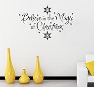Недорогие -Романтика Рождество Праздник Наклейки Простые наклейки Декоративные наклейки на стены, Бумага Украшение дома Наклейка на стену Стена