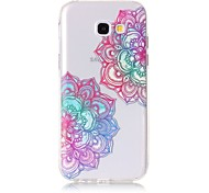 Case For Samsung Galaxy A5(2017) A3(2017) Phone Case TPU Material Diagonal Flower Pattern Painted Phone Case