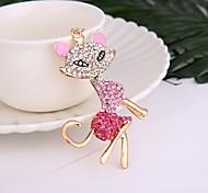 Fashion Hot Selling Alloy Diamond-Encrusted Fox Dey Chain Lady's Handbag Hang The Accessories