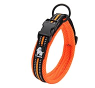 cheap -Dog Collar Anti-Slip Reflective Breathable Safety Adjustable Solid Polyester Net Nylon Black Orange Yellow Fuchsia Blue