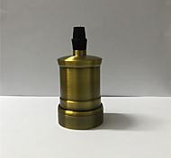 Недорогие -1 шт. E26 / e27 штепсельная вилка луковицы металлическая оболочка средняя основа edison ретро подвесной светильник без переключателя и