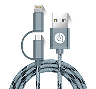cheap -USB 2.0 Connect Cable, USB 2.0 to Micro USB 2.0 Lightning Connect Cable Male - Male 1.5m(5Ft)