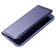 abordables -Funda Para Samsung Galaxy A5(2017) A3(2017) Soporte de Coche Flip Funda de Cuerpo Entero Color sólido Dura Cuero de PU para A3 (2017) A5