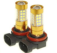 Sencart 2pcs H11 PGJ19-1  Flashing Bulb Led Car Tail Turn Reverse Light Bulb Lamps(White/Red/Blue/Warm White) (DC/AC9-16V)