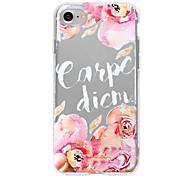 Случай для iphone 7 плюс iphone 6 слово / фраза цветок образец телефона мягкая раковина для iphone 7 iphone 6 / 6s плюс iphone 6 / 6s