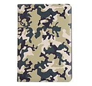 cheap -Case For Apple iPad Air 2 iPad Air Card Holder with Stand Full Body Cases Camouflage Color Hard PU Leather for iPad Air iPad Air 2 iPad