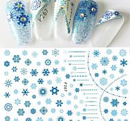 abordables -1pcs Modelo Pegatinas de uñas 3D Suministros DIY 3D Chicas y Mujeres Jóvenes Plantilla de estampado de uñas Diario Moda Alta calidad