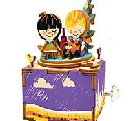 Набор для творчества музыкальная шкатулка Игрушки Карусель Дерево Куски Для детей Универсальные День рождения День Святого Валентина