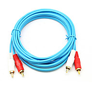 abordables -2 RCA Cable, 2 RCA to 2RCA Cable Macho - Macho 1,5 m (5 pies)