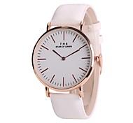 abordables -Mujer Reloj de Vestir Reloj de Moda Reloj de Pulsera Chino Cuarzo cambiar el color en el sol PU Banda Vintage Casual Elegant Blanco