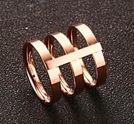 Жен. Классические кольца Мода Винтаж Симпатичные Стиль Золотистый Титан Сталь Розовое золото Круглый Бижутерия НазначениеСвадьба