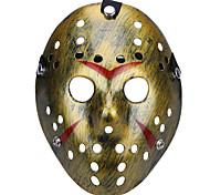 Недорогие -Хэллоуин пористый Джейсон убийца маска старый выцветший старинный серебряный хоррор хоккей косплей карнавал маскарад участник костюм костюм