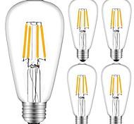 preiswerte -5 Stück 4W 360 lm E27 LED Glühlampen ST64 4 Leds COB Dekorativ Warmes Weiß Kühles Weiß Wechselstrom 220-240V