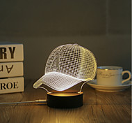 1 Set, Popular Home Acrylic 3D Night Light LED Table Lamp USB Mood Lamp Gifts, Hat